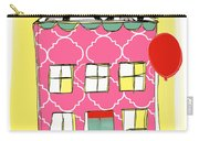 Pink House Carry-all Pouch by Linda Woods