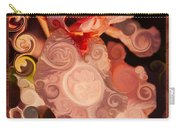 Pink Iris As A Burst Of Color Flower Abstract Art Carry-all Pouch