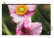 Pink Japanese Anemone Carry-all Pouch