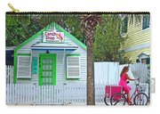 Pink Lady And The Conch Shop  Carry-all Pouch by Rebecca Korpita