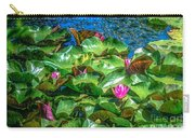 Pink Lilly Flowers And Pads Carry-all Pouch