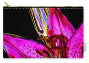 Pink Lily And Bud Pop Art Carry-all Pouch