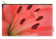Pink Lily Macro Carry-all Pouch by Adam Romanowicz