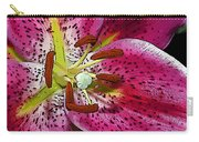 Pink Lily Painterly Carry-all Pouch