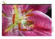 Pink Lily Up Close Carry-all Pouch