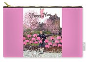Pink New Year Greeting Carry-all Pouch