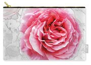 Pink On White Carry-all Pouch