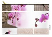 Pink Orchid And Buddha Collage Carry-all Pouch