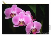 Pink Orchids In A Row Carry-all Pouch