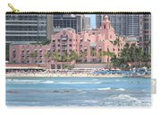 Pink Palace On Waikiki Beach Carry-all Pouch