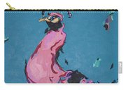 Pink Peacock Full View Carry-all Pouch