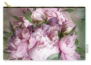 Pink Peonies Bouquet - Square Carry-all Pouch