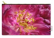 Pink Peony Flower Macro Carry-all Pouch by Jennie Marie Schell