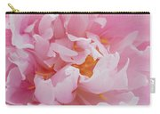 Pink Peony Flower Waving Petals  Carry-all Pouch