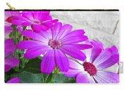 Pink Perciallis Ragwort Flower Art Prints Carry-all Pouch