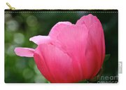 Pink Petals Green Diamonds Carry-all Pouch