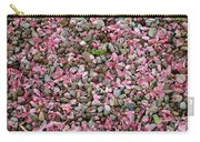 Pink Petals On Stones  Carry-all Pouch
