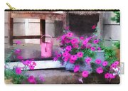 Pink Petunias And Watering Cans Carry-all Pouch