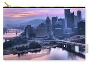 Pink Pittsburgh Morning Carry-all Pouch