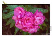 Pink Plumeria Abstract Flower Painting Carry-all Pouch
