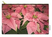 Pink Poinsettias Close-up Carry-all Pouch