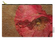 Pink Poppy Gold Leaf Carry-all Pouch