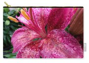 Pink Rain Speckled Lily Carry-all Pouch