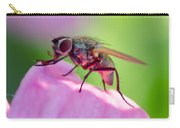 Pink Reflection On Flies Body. Carry-all Pouch
