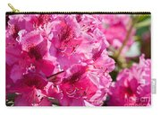Rhododendron Called Azalea Bright Pink Flowers  Carry-all Pouch