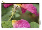 Pink Rose And Its Petals Carry-all Pouch