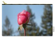Pink Rose And Trees Carry-all Pouch