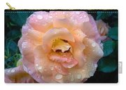 Pink Rose Bathed In Rain Carry-all Pouch
