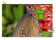 Pink Rose Butterfly Carry-all Pouch