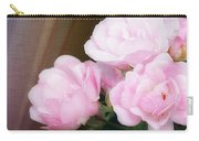 Pink Rose Cluster Carry-all Pouch