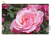 Pink Rose Flower Floral Art Prints Roses Carry-all Pouch