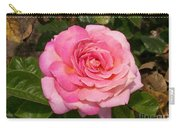 Pink Rose Full Bloom Carry-all Pouch