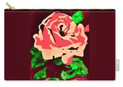 Pink Rose Impression Carry-all Pouch
