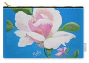 Pink Rose In Paint Carry-all Pouch