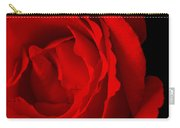Pink Rose Isolated On Black Carry-all Pouch