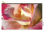 Pink Rose Painted  Carry-all Pouch