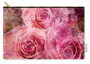 Pink Roses And Pearls Carry-all Pouch