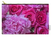 Pink Roses And Peonies Please Carry-all Pouch