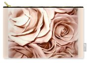 Pink Roses Bouquet Sketchbook Effect Carry-all Pouch