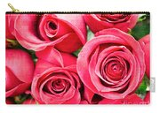 Pink Roses Flowers  Carry-all Pouch