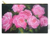 Pink Roses In A Brass Vase Carry-all Pouch