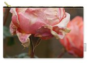 Pink Roses In The First Snow Carry-all Pouch