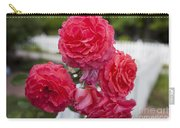 Pink Roses White Picket Fence Carry-all Pouch