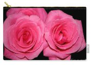 Pink Roses With Brush Stroke Effects Carry-all Pouch