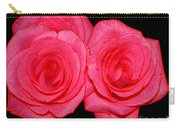 Pink Roses With Colored Edges Effects Carry-all Pouch