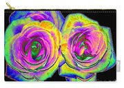 Pink Roses With Colored Foil Effects Carry-all Pouch